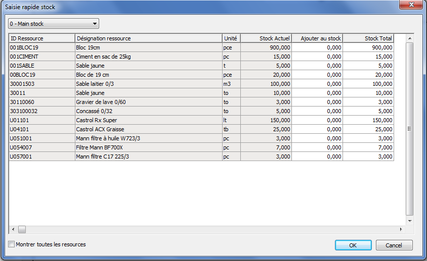 Stock management in Hit-Office software